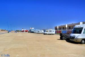 Parking in Foum El Oued - Cercle de Laâyoune - Laâyoune-Sakia el Hamra – Marokko – February 2016