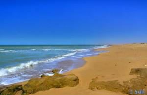 Beach Foum El Oued – Marokko (vom Stellplatz nach rechts)