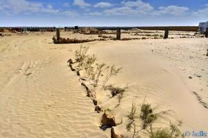 Sand im Camping Villa Bens - Tarfaya – Marokko