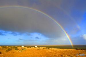 Regenbogen - Lac de Naïla (Khnifiss Lagune) – Marokko