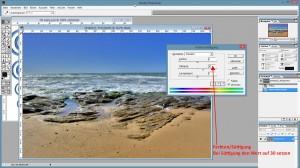 Farbton und Sättigung mit STRG + U öffnen