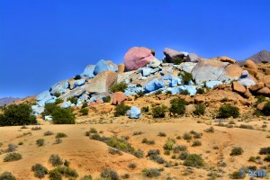 Blue Rocks (and a Pink one!) - Tafraoute - Cercle de Tafraoute - Souss-Massa - Marokko – 1144m
