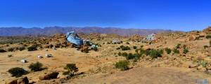 Parking at the Blue Rocks - Tafraoute - Cercle de Tafraoute - Souss-Massa - Marokko – 1144m – March 2016