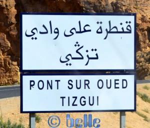 Vor einer der Brücken - Pont sur Oued Tizgui – Marokko