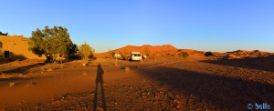 Parking in the Camping la Tradition - Merzouga - Erg Chebbi – Marokko