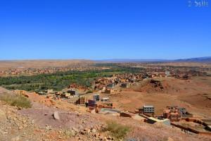 Panorama vor Gorges du Todra - R703, Marokko
