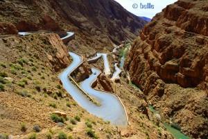 Gorges du Dadès, Marokko – Aussicht vom Hotel Timzzillite