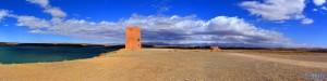 Dicke fette Wolkenwand von Norden - Barrage Al Mansour Ad Dahbi – Marokko