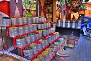Gewürze-Shop in den Souks von Marrakech – Marokko