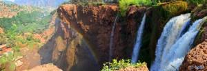 Regenbogen an den Ouzoud-Wasserfällen – Marokko