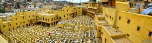 Alte Gerberei und Färberei in Fés – Marokko