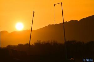 Sonnenuntergang in Martil – Marokko ...sieht fast aus wie... (wer vollendet meinen Gedanken?)