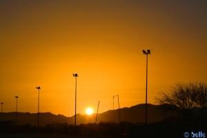 Sonnenuntergang in Martil - Marokko