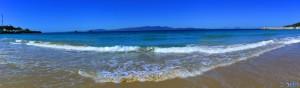 Panorama-Bild - Plage Dalia – Marokko – Blick auf Spanien und Gibraltar (Eruopa)