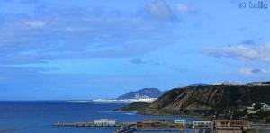 Port Tanger MED – Marokko – Aussicht von der N16 (Tanger nach Ceuta)