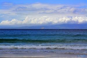 Segelboot vor der Küste Spaniens - Plage Dalia – Marokko - 55mm