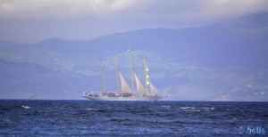 Segelboot vor der Küste Spaniens - Plage Dalia – Marokko - 300mm