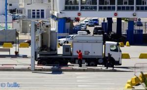 Röntgen-Scanner am Port Tanger Ville – Marokko
