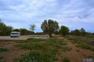 Parking in a Area Sosta - San Clemente - Cuenca – Castilla-La Mancha – Spain – April 2016