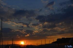 Sunset in Genova - Italy
