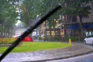 Auf der Suche nach einem Luch-Platz - Gewitter und Hagel in Cuneo – Italy