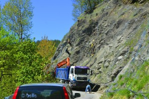 Baustelle - SP335 - On the Way to Colle di Sampeyre – Italy