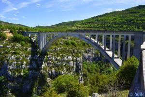 Brücke über die Schlucht von Verdon – France
