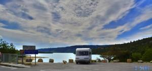 Parking in a Area Sosta Camper - 83630 Les Salles-Sur-Verdon - D957 - Var - Alpes-Côtes d'Azur – France – May 2016