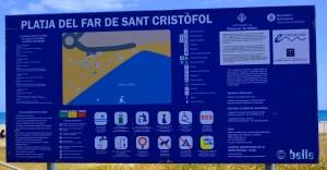 Hunde verboten am Platja del Far de Sant Cristòfol - Vilanova i la Geltrú – Spain