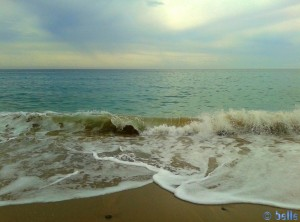 Waves at the Beach of L'Hospitalet de l'Infant – Spain