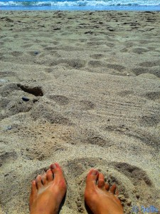 Me at the Beach of L'Hospitalet de l'Infant – Spain