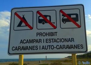 New Message at 6th of June 2016 → Prohibit Acampar - L'Hospitalet de l'Infant – Spain