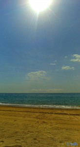...super sonnig am Platja L'Hospitalet de l'Infant – Spain