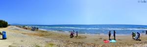 Busy Beach between Torre de la Sal und Marina D'Or - Oropesa – Spain