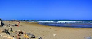 Gut besucht - der Strand von Alboraya – Spain