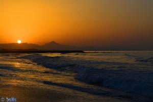 Sunset in Platja L'Almadrava – Spain