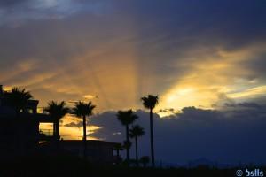 Sunset behind the Clouds - Platja L'Almadrava – Spain