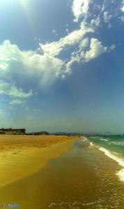 Von Gewitter keine Spur mehr - Playa Almadrava – Spain