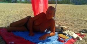 ...meine Wenigkeit am Playa Almadrava – Spain