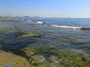 Agua Amarga Playa mit Blick auf Alicante – Spain