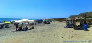 ...es ist schon voll am Playa la Ermita – Spain