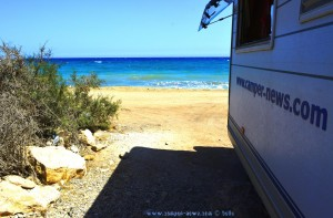 Parking at Ziegenwiese - Playa de Cobaticas - Cañada de Gallego, Unnamed Road, 30876 Mazarrón, Murcia, Spanien – August 2016