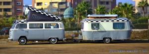 VW Westfalia - mit Wohnwagen aus Berlin - Playa de las Salinas – Spain