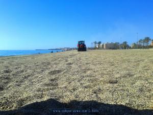 Da isser wieder - der Trecker - um viertel vor 12! Playa las Salinas – Spain