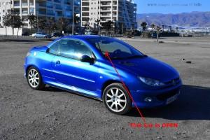 Der mysteriöse Peugeot 206CC - Playa las Salinas – Spain