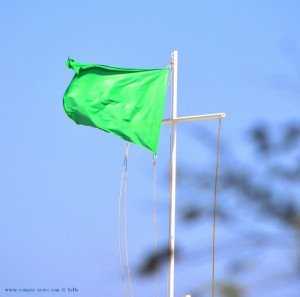 Grüne Flagge am Playa las Salinas – Spain