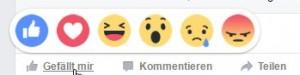Facebook-Smilies seit geraumer Zeit ♥