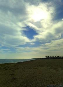 My View today - Playa las Salinas – Spain (4 Bilder mit Image Composite Editor ein Panorama-Bild erstellt)