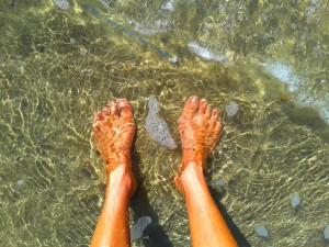 Nach dem Vollbad das Fussbad - Playa de las Palmeras – Spain