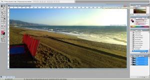 Panorama-Bild nach der Korrektur in Photo-Shop